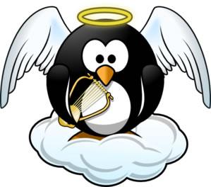 天国のペンギン(パブリックドメイン)